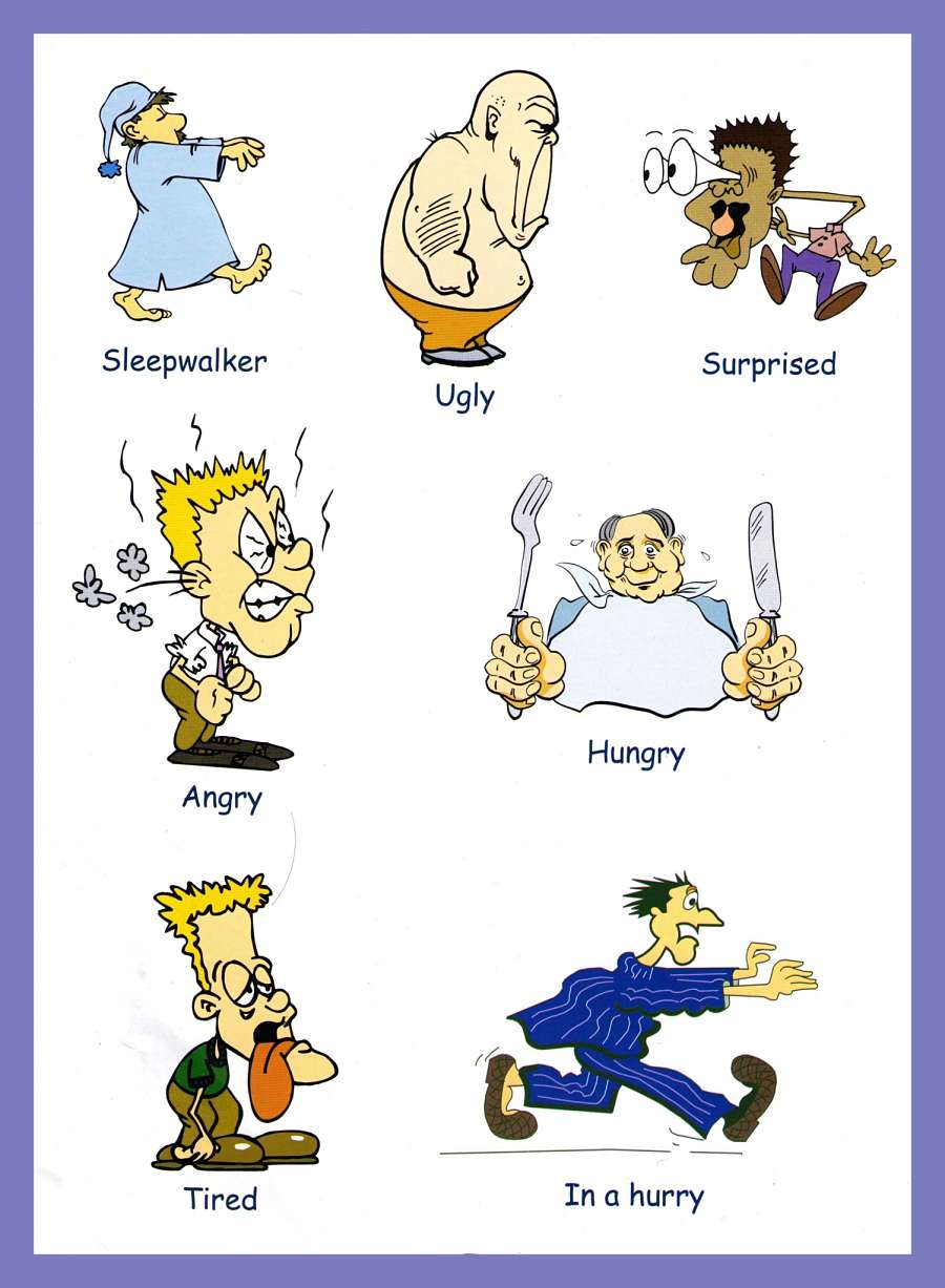 hight resolution of Adjectives Pictures - Download and Print