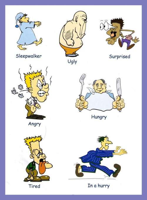 small resolution of Adjectives Pictures - Download and Print