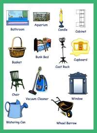 Household Items Vocabulary For Kids