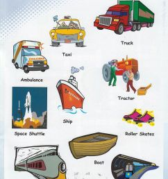 vehicles vocabulary 3 [ 900 x 1303 Pixel ]