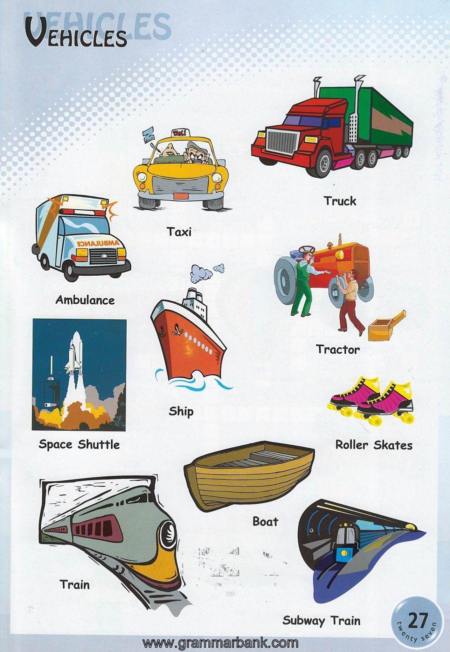 hight resolution of vehicles vocabulary 3