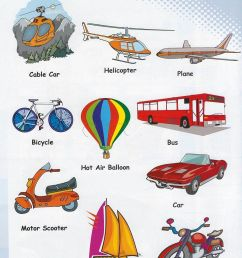 vehicles vocabulary 5 [ 900 x 1329 Pixel ]