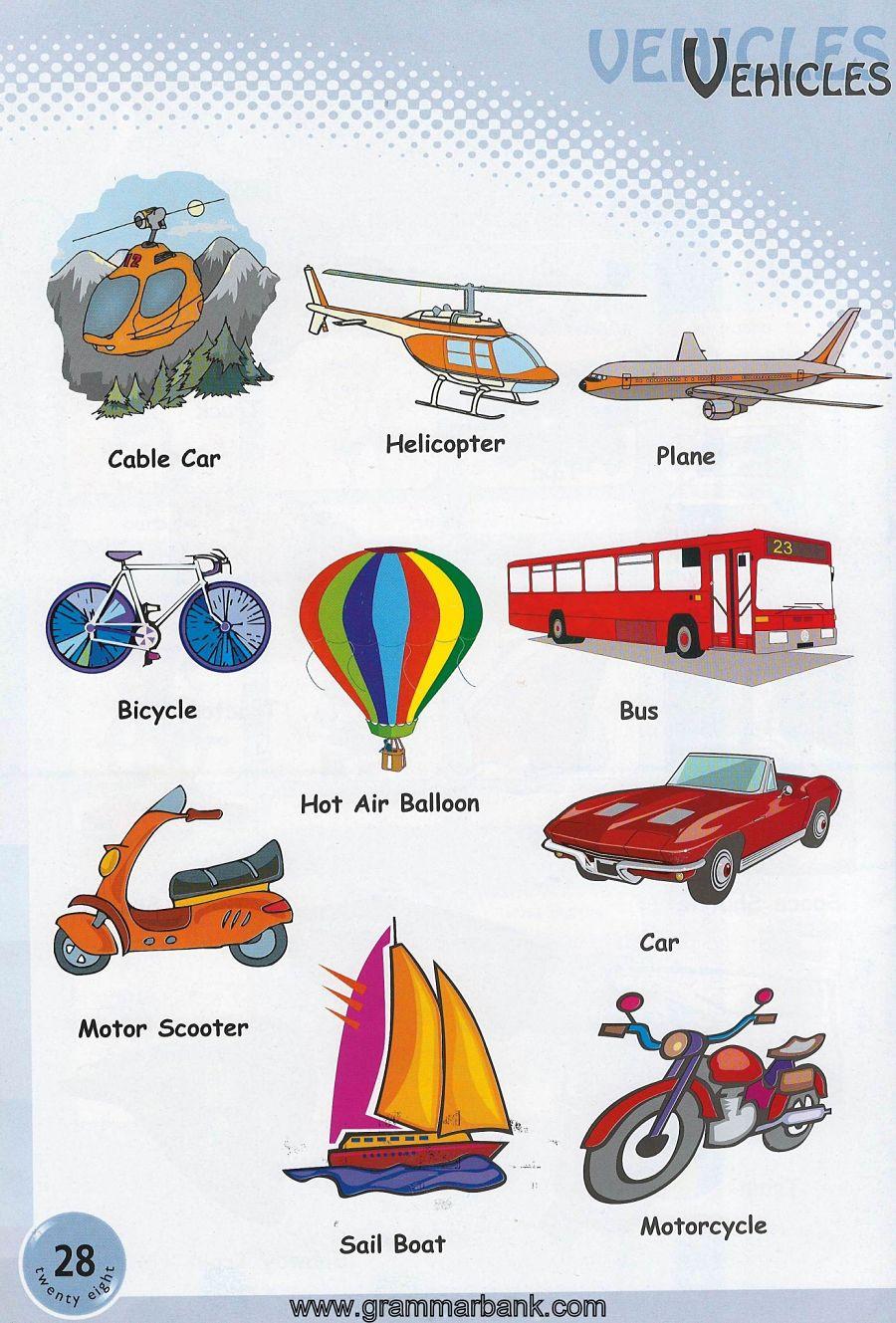 hight resolution of vehicles vocabulary 5