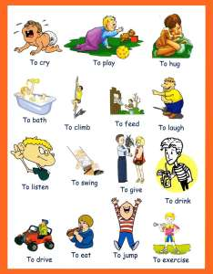 Verbs pictures preschoolers also to download and print rh grammarbank