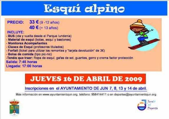 CARTEL DEL DÍA DE ESQUI EN SIERRA NEVADA