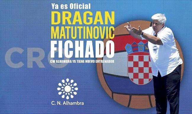 DRAGAN MATUTINOVIC ENTRENARÁ AL CN ALHAMBRA DE GRANADA.