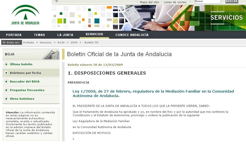boja junta andalucia mediacion familiar