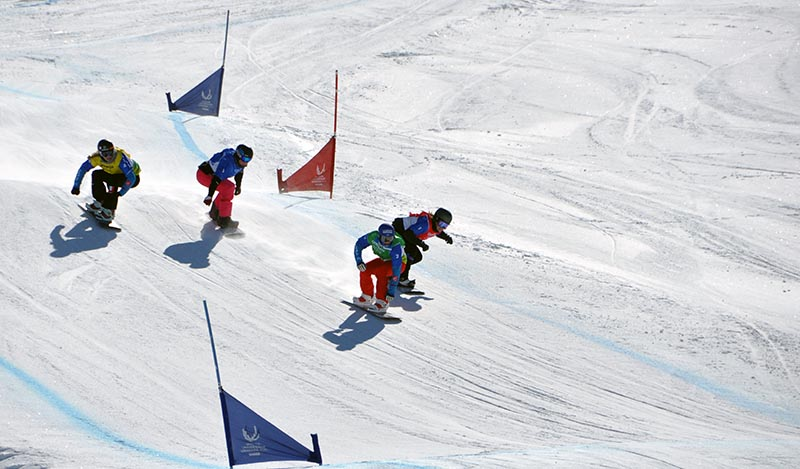 Universiada 2015-02-06 SnowBoard Cross Femenino