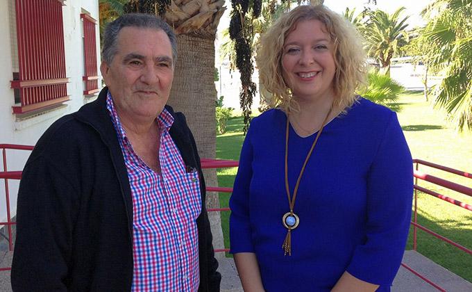 La alcaldesa, Flor Almón, y el teniente de alcalde de urbanismo, Antonio Escámez