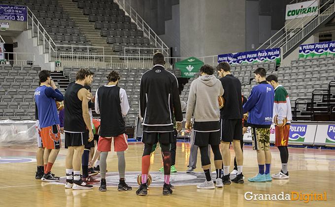 Entrenamiento Granada Baloncesto Coviran-3