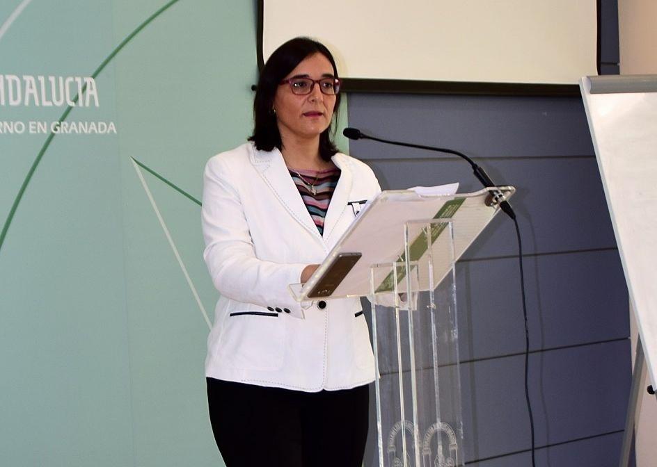 La delegada de Agricultura, Ganadería, Pesca y Desarrollo Sostenible en Granada, María José Martín.