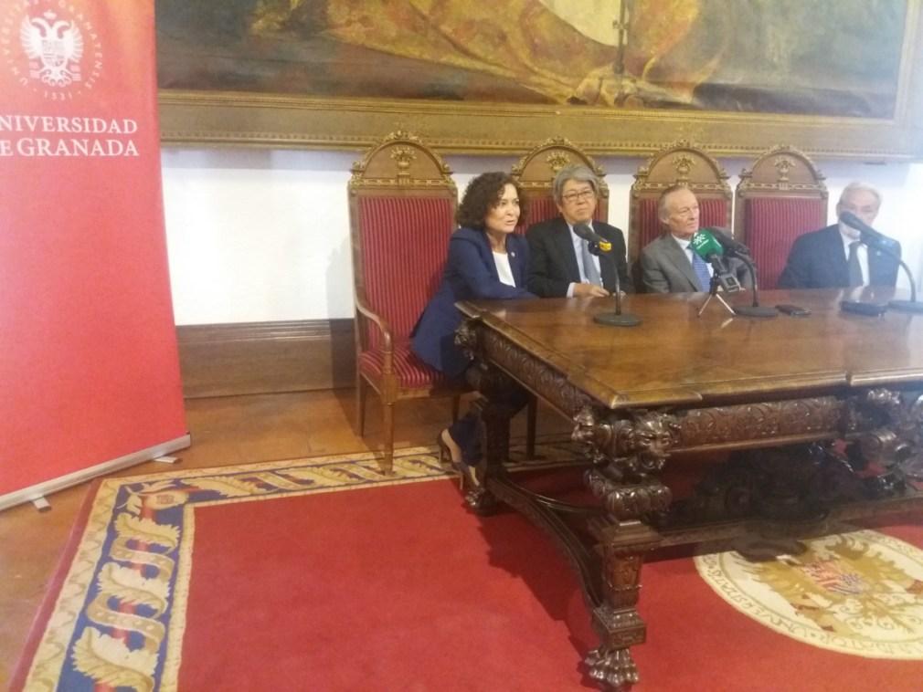 Rueda de prensa antes de un encuentro del Consejo Social de la UGR con Japón