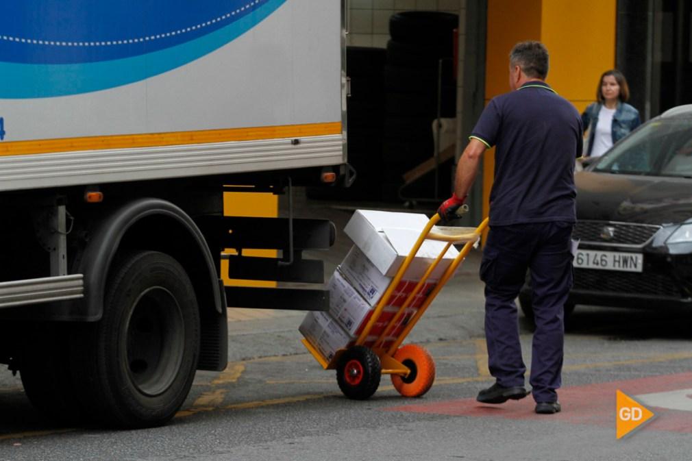 repartidores de mercancias en Granada