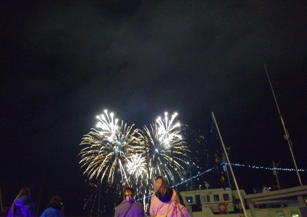 Fuegos artificiales en Poole 2019