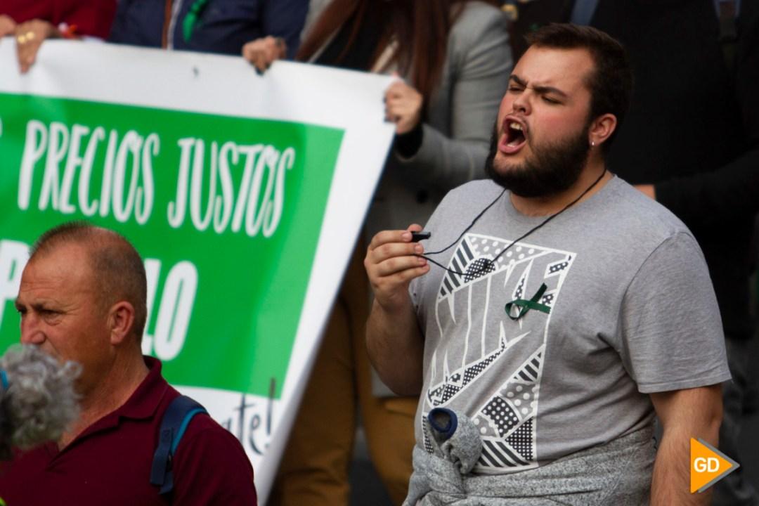 Tractorada y manifestación de los agricultores de la provincia de Granada