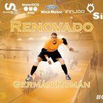 El portero del SIMA Peligros Fútbol Sala, Germán Román renueva con la entidad