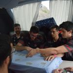 El equipaje preparado para un nuevo desplazamiento del Coviran Granada