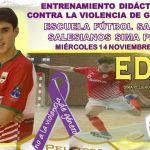 Clinic de Edu Gómez contra la violencia de género en las Escuelas de Fútbol Sala
