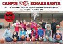 RACA Granada organiza dos campus de baloncesto esta Semana Santa 2019