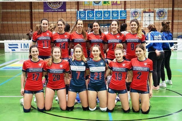 El Club Deportivo Universidad de Granada pierde en un equilibrado choque en voleibol femenino