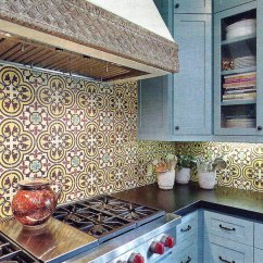 Mexican Backsplash Tiles Kitchen Design Budget Installation Equation Cement Tile For An