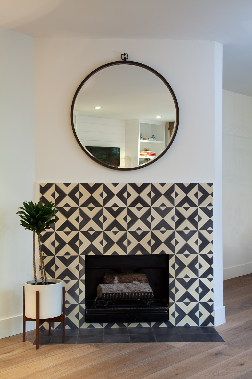 unexpected places to use cement tiles
