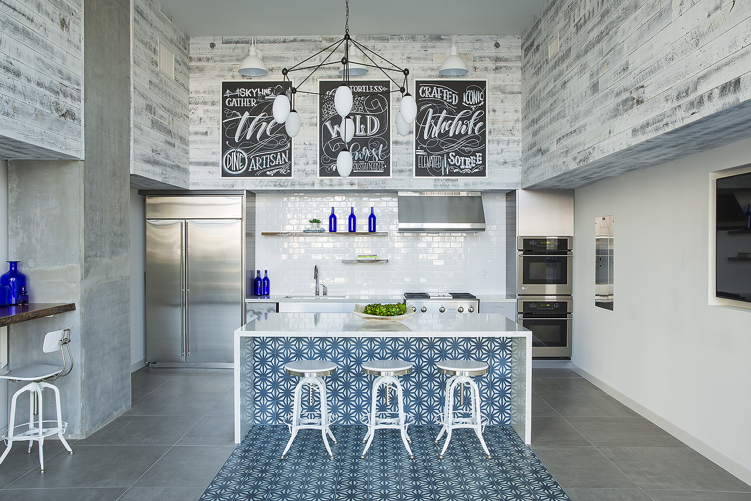 cement tile kitchen farmhouse lighting fixtures how to use add color and pattern your