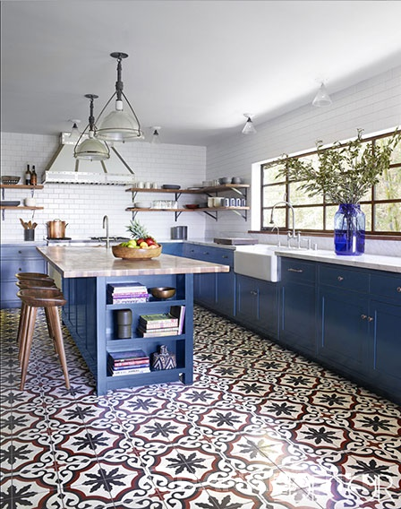 cement tile kitchen wood cart tiles and concrete wall custom colored sofia in