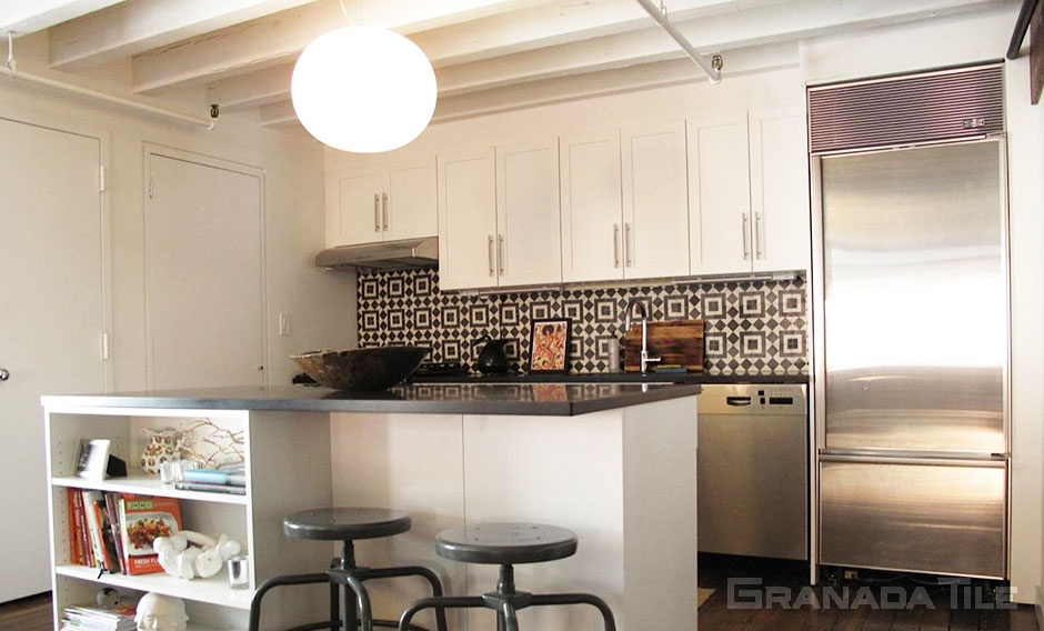 cement tile kitchen how to install backsplash tiles and concrete wall fez 928 b design in black white custom colored sofia