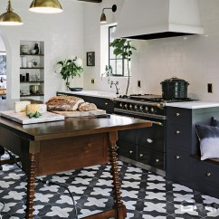 Floor Tile For Kitchen Touch On Faucet Cement Tiles And Concrete Wall Badajoz 912 B Design In Black White