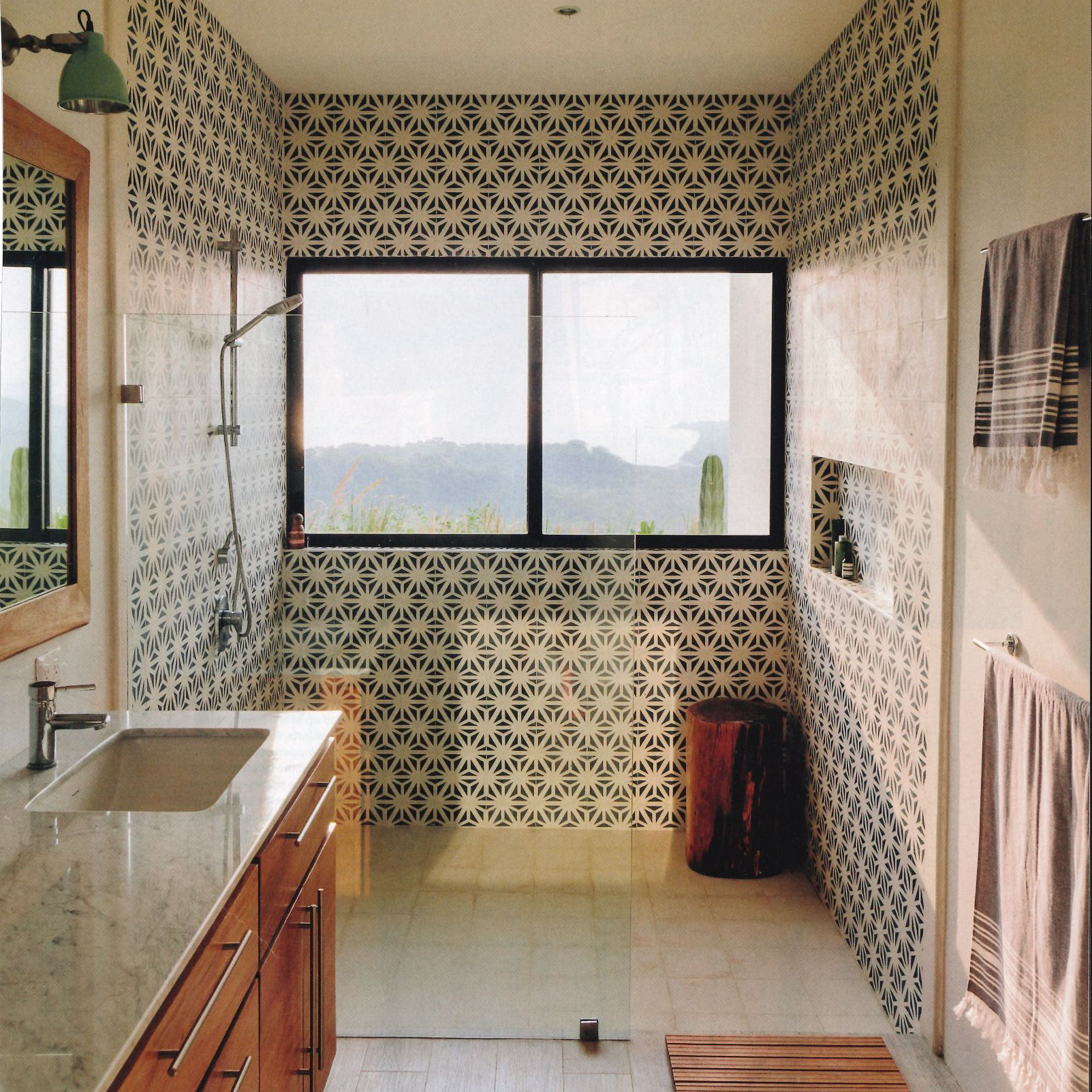 Have You Seen This Tunis Cement Tile Bathroom  Granada