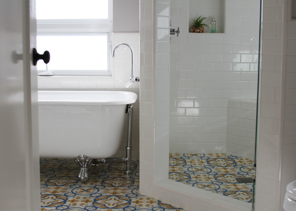 Update Your White Bathroom With Granada Cement Tile