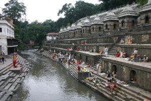 Miedo a viajar Templo Pashupatinath en Katmadú.