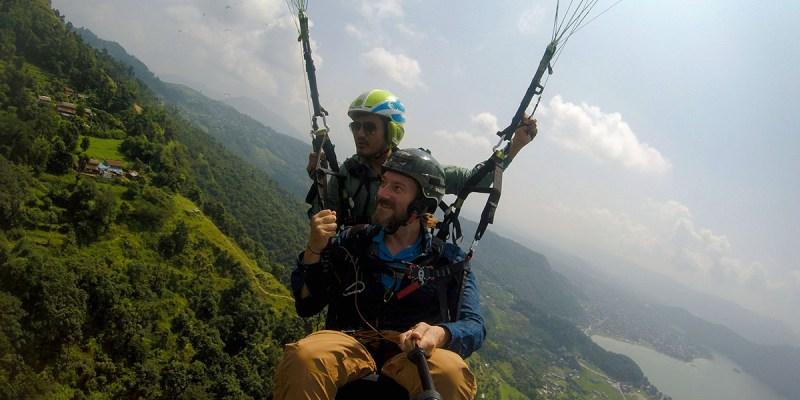 Parapente en Pokhara Nepal