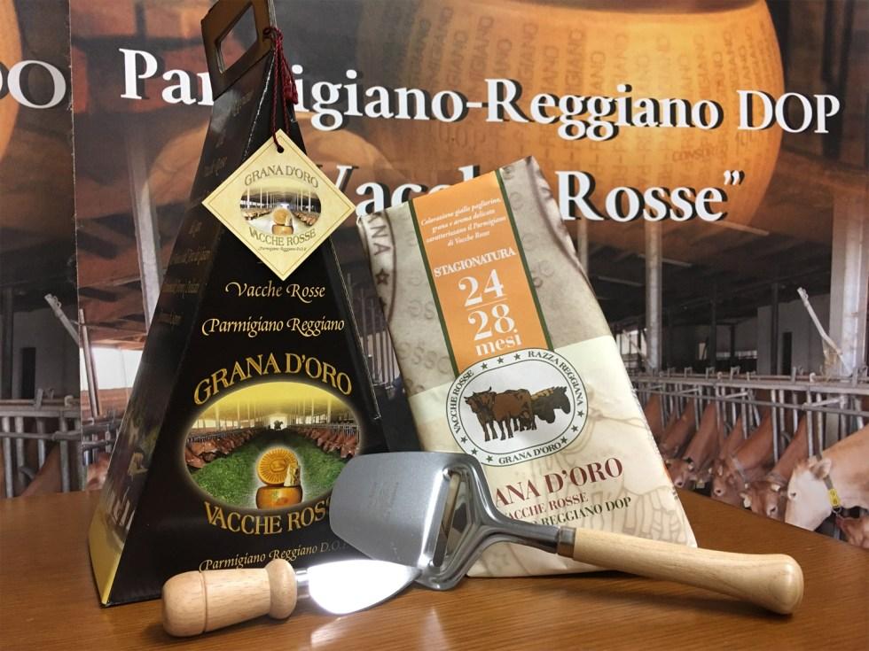 Confezioni regalo Parmigiano Reggiano vacche rosse Grana d'Oro