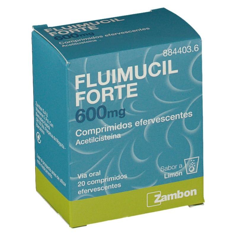 FLUIMUCIL FORTE 600 mg COMPRIMIDOS EFERVESCENTES . 20 comprimidos