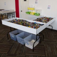 White Folding Dump Table | Retail Display Tables | By ...