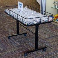 Folding Leg Metal Dump Table | Retail Display Tables | By ...