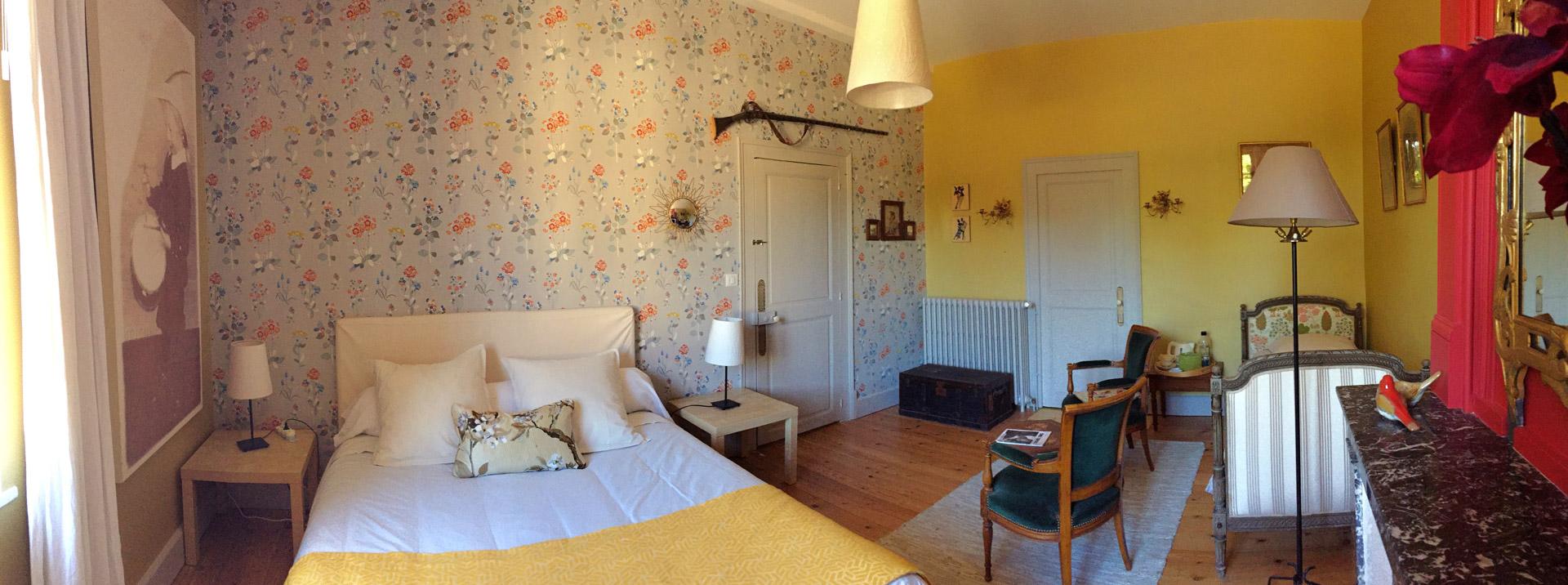 La chambre Amédée de Grand Bouy, vue panoramique