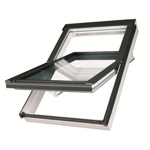 Окно мансардное Fakro PTP-V U3 ПВХ белое с вентиляционным клапаном (550×780 — 1140×1400 мм)