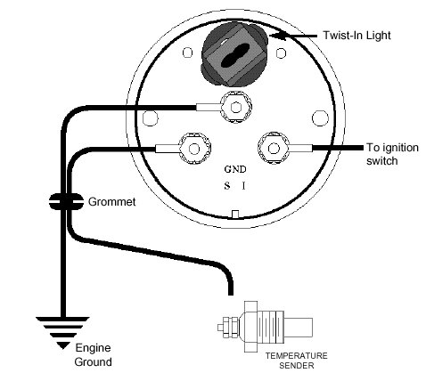 autometer electric water temp gauge wiring diagram single phase motor with capacitor transmission tempature