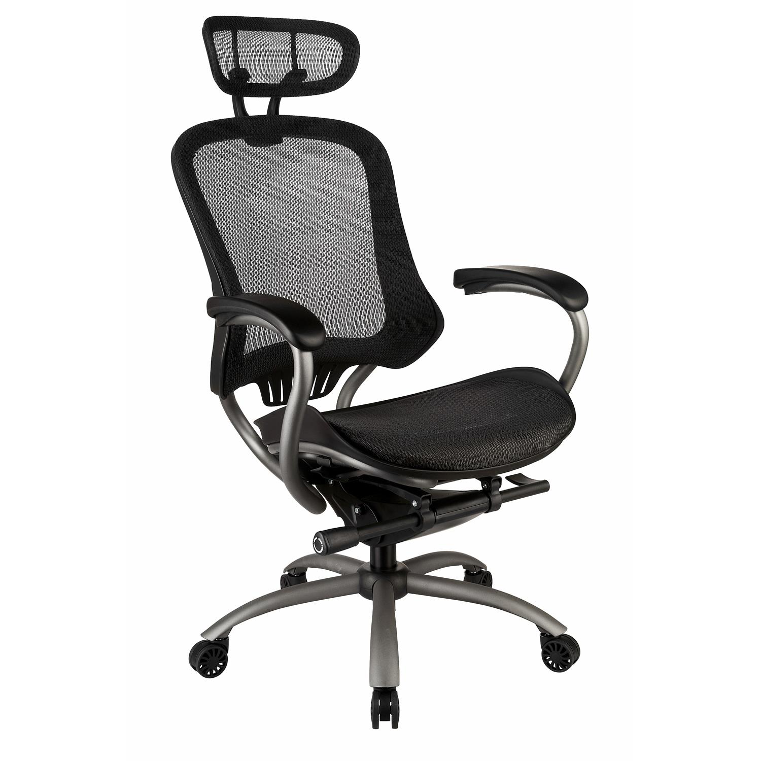 add on headrest for office chair rocking cushions set indoor tygerclaw professional air grid high back