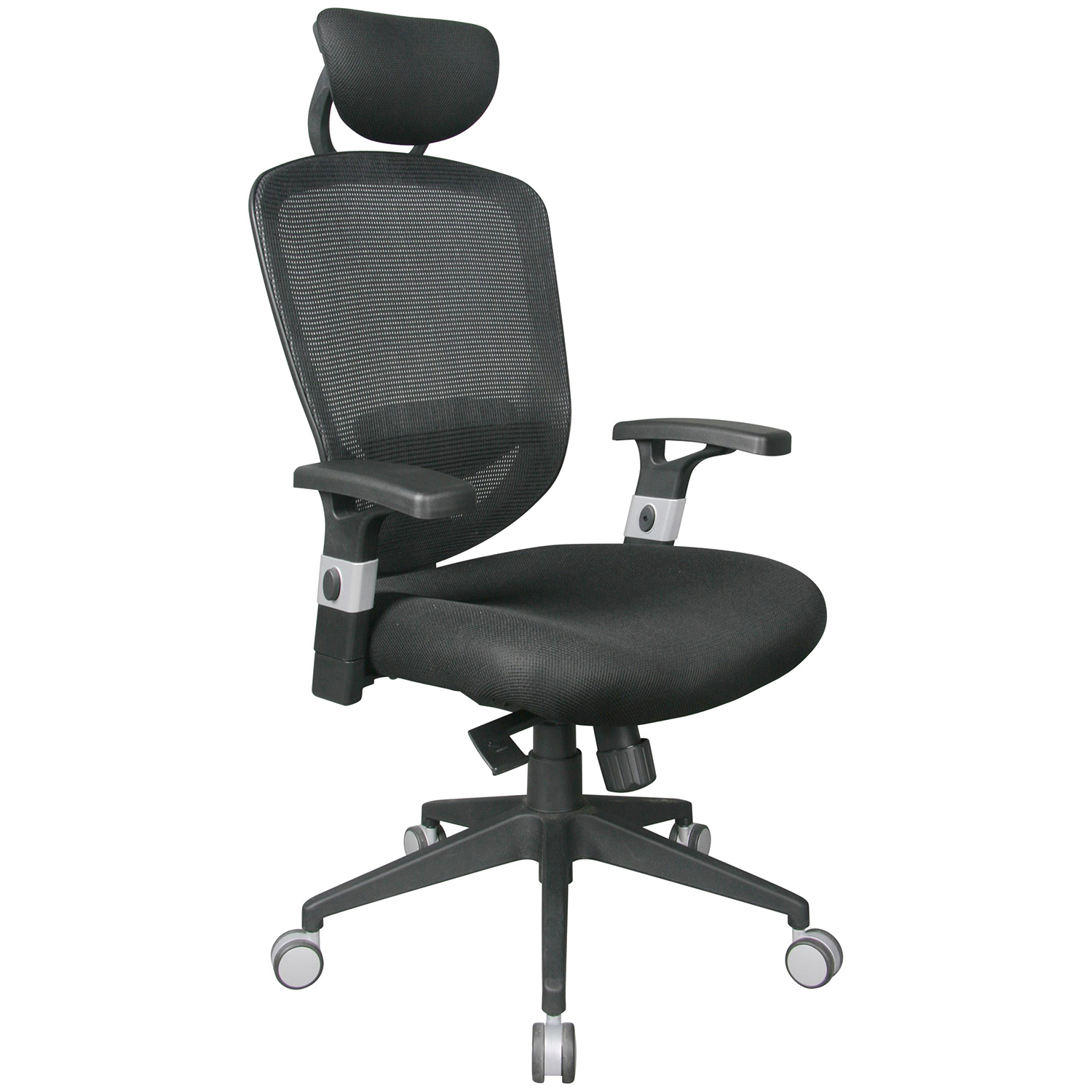 office chair with headrest high chairs for kitchen island tygerclaw air grid back adjustable