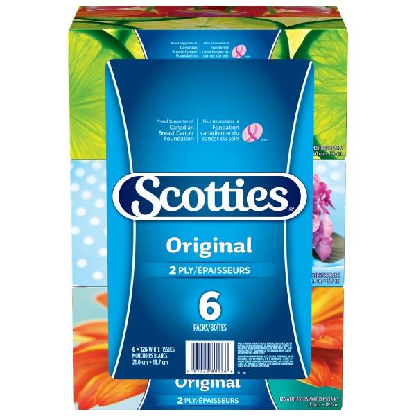 Scotties 2Ply Original Facial Tissue White 126 Sheets