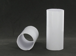 L X 7 8 W White Soft Plastic E 12 Base Candle Socket Cover Candelabra