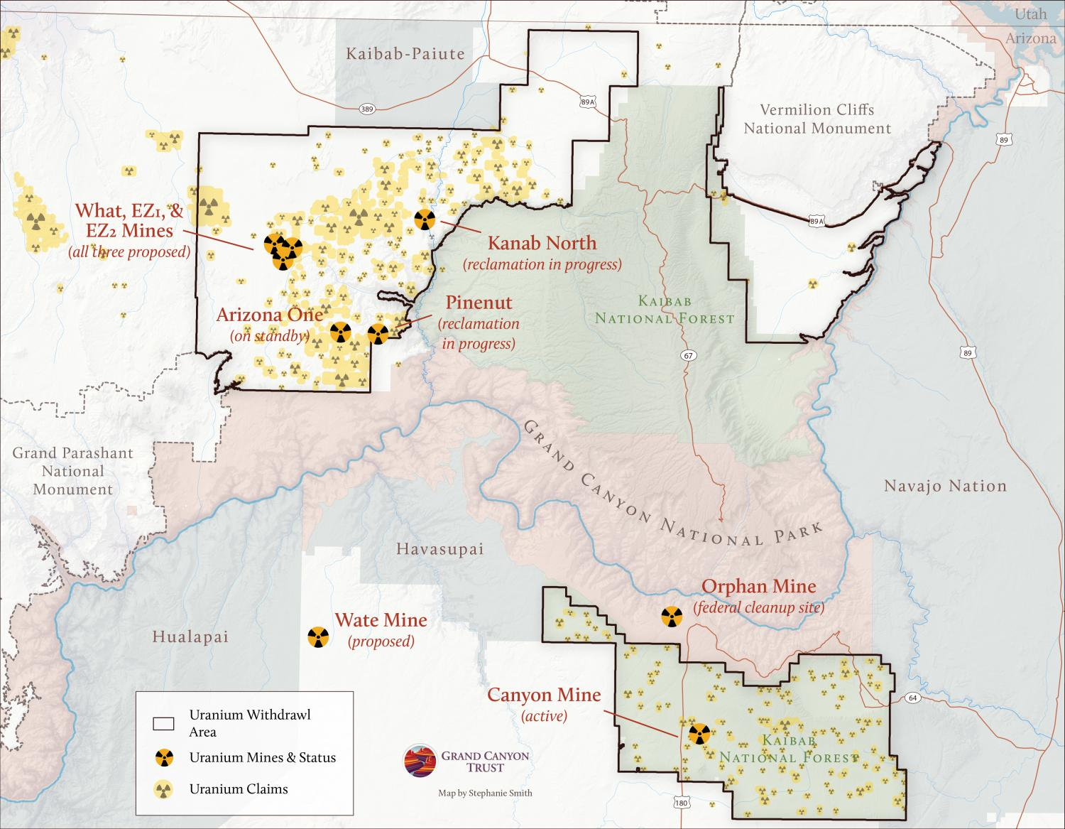 hight resolution of blog grand canyon uranium claims map