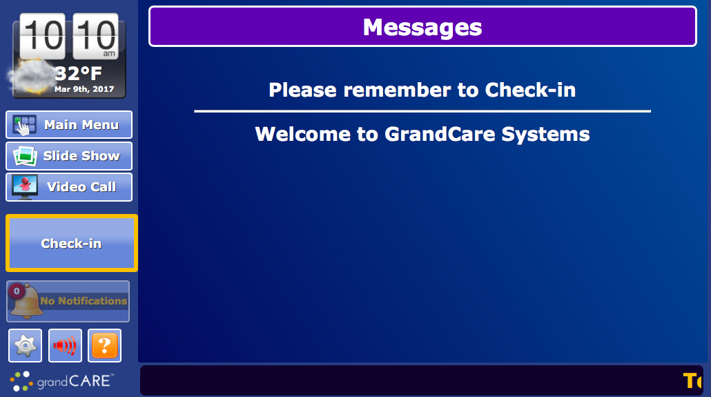 GrandCare Introduces Senior Housing Check-In Button