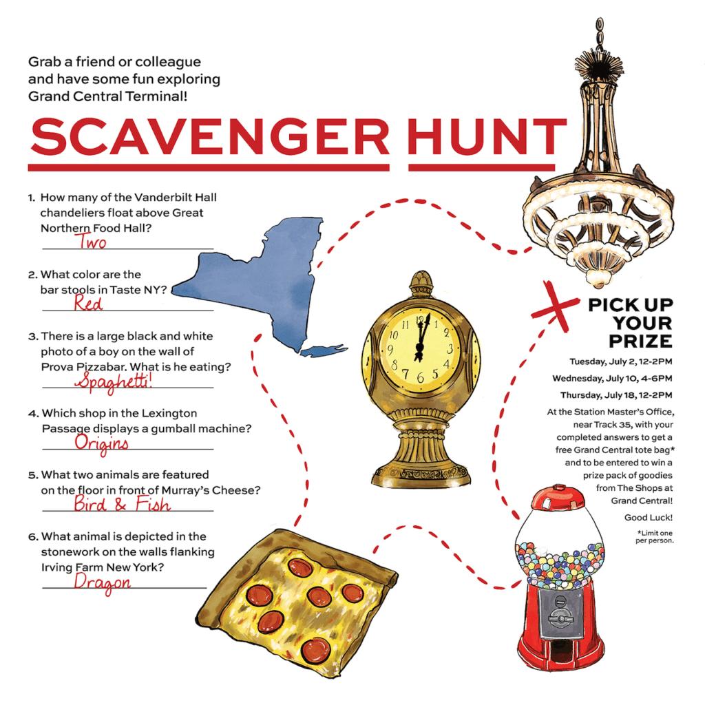 Grand Central Scavenger Hunt