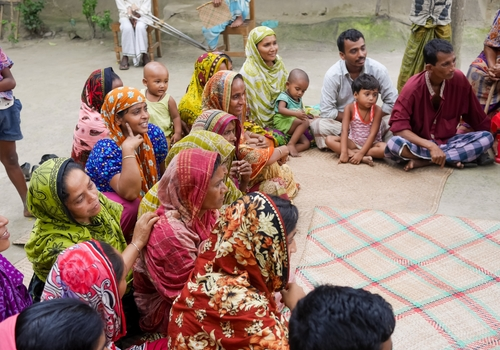 In Bangladesh, it is predominantly the women that are responsible for gathering water. Our team trained these women on how to use PurifAid's filters.