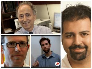 (Du coin supérieur gauche, en allant dans le sens horaire) Stanley Zlotkin, Omer Imtiazudin, Joel Segre et Alex Bruton